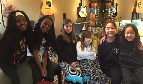 L-R: Gardner sisters, Nolting sisters, Loeun sisters